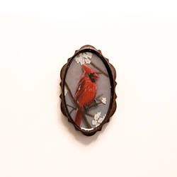 598568089fa Cardinal Miniature Painting by CassandraEveBrown on DeviantArt
