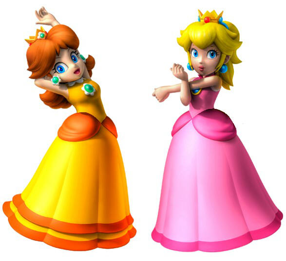 Super Mario Sunshine Peach and Daisy by earthbouds on