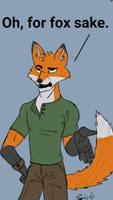 Fed Up Fox by SouthpawLynx