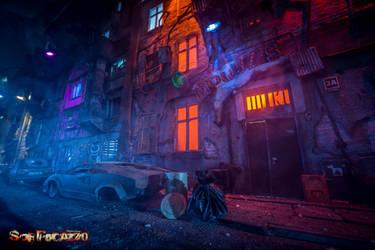 Derelict Brothel at Night by Soffocazzo