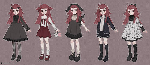 Tsuki Outfits by DrawKill