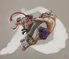 Ryu vs Sagat! by fan4battle