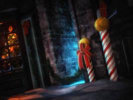 Dark Christmas Stock Background 7 by bonbonka