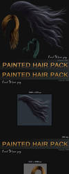 Painted Hair Pack - 5 instant hair by bonbonka
