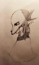 Deer Skull Girl by PixAve