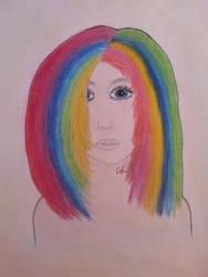 Rainbow girl by CharlinsArt