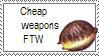 Cheap weapons FTW stamp by Akhrrana