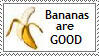Bananas are good for you Stamp by Akhrrana