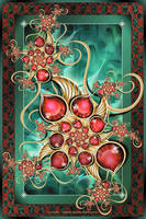 Garnet Droplets by Velvet--Glove