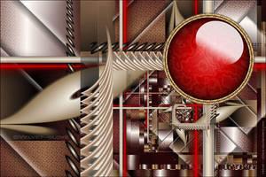 Red Button by Velvet--Glove