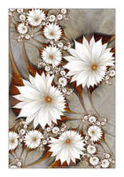 Sepia Flowerscape by Velvet--Glove