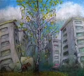 If it isn't a bad spell, then birch - damaged by Grzegorz-Kawka