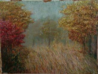 Autumn for my wife - damaged original by Grzegorz-Kawka