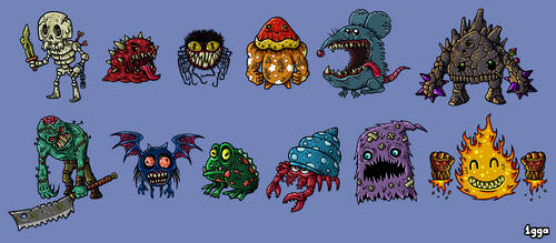 Game Monsters by 1gga