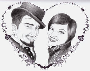 Mr. and Mrs. Voltaire by HappyRaincloud