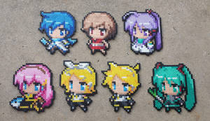 The Big Seven - Vocaloid Perler Bead Sprite Set by MaddogsCreations
