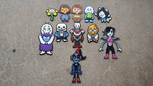 Friends of Undertale - Perler Bead Sprites by MaddogsCreations
