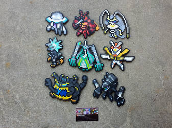 Ultra Beasts - Pokemon Perler Bead Sprites by MaddogsCreations