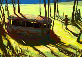 rusty bus by BrumaGris