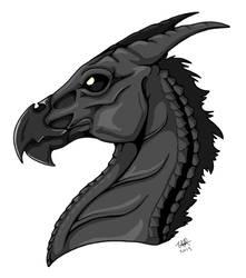 Thestral Headshot by StormBlaze-Pegasus