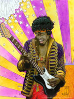 Jimi Hendrix by jmdesantis