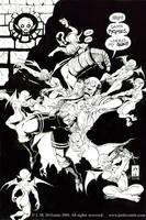 Hellboy Versus Pygmies by jmdesantis