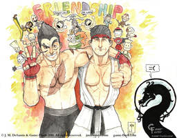 SF X Tekken Friendship by jmdesantis