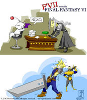 F'VII Remake Final Fantasy VI by jmdesantis