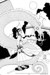 Chadhiyana and Sagreembal (inks) by jmdesantis