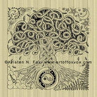 Celtic Tree of Life - Ink by foxvox