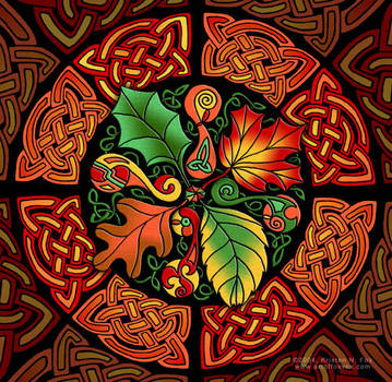 Celtic Autumn Leaves by foxvox