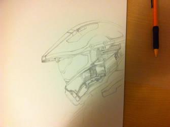 Halo 5 Master Chief and Spartan Locke (Progress 2) by CloudZeroArt