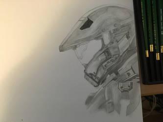 Halo 5 Master Chief and Spartan Locke (Progress 5) by CloudZeroArt