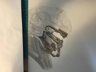 Halo 5 Master Chief and Spartan Locke (Progress 6) by CloudZeroArt