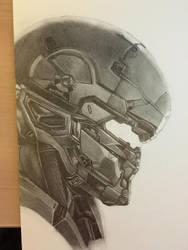 Halo 5 Master Chief and Spartan Locke (Progress 7) by CloudZeroArt