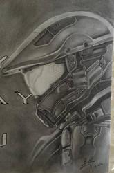 Halo 5 Master Chief and Spartan Locke (Progress 8) by CloudZeroArt