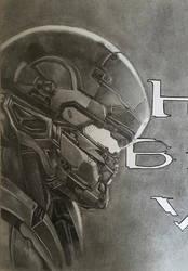 Halo 5 Master Chief and Spartan Locke (Progress 9) by CloudZeroArt