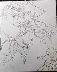 Sora (KH II) by CloudZeroArt