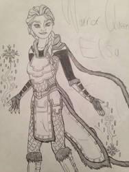 Warrior Queen Elsa by MorriganXWarden