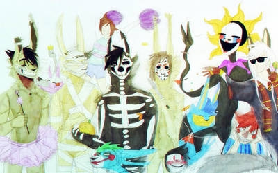 it's me and my friends celebrating Halloween. by x-LOLlipop-xXx