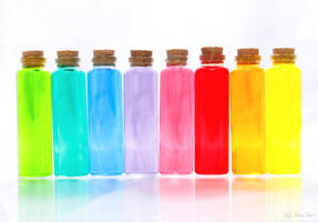 Rainbow Bottles by Nora-Sims