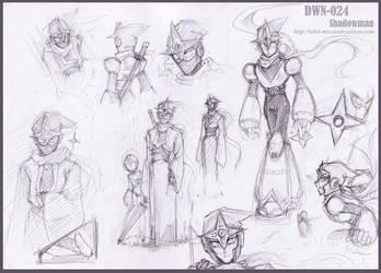 Sketch : Shadowman by whitmoon