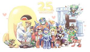 Happy 25th Birthday Rockman by whitmoon