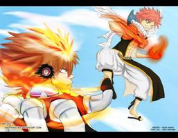 Natsu VS Tsuna by SiegfriedLied