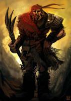 Athas Half-Giant by carloscara