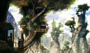 Treehouse village by carloscara