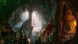 Avillum: Underground lab by carloscara