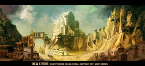 Gods in Exile: New Athens Concept by carloscara