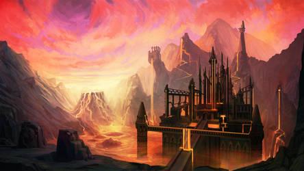 Lava fortress by carloscara