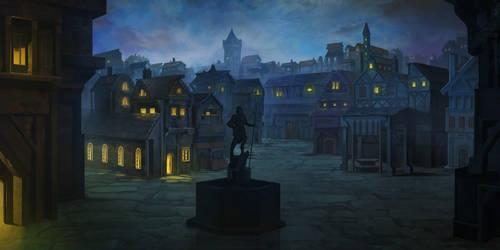 Night street by carloscara